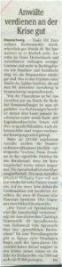 Ausschnitt Berliner Morgenpost 25.05.2009