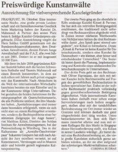 Ausschnitt FAZ 30.10.2012