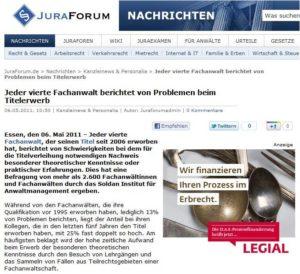 Ausschnitt Jura Forum 06.05.2011