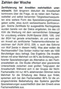 Ausschnitt NJW Nr.4 2012